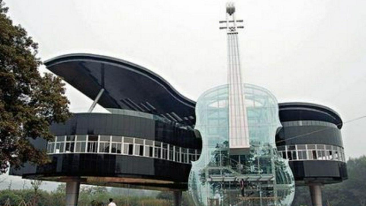 【画像】一度は住みたいピアノ型の建物がロマンティック!インスタ映え間違いなし?